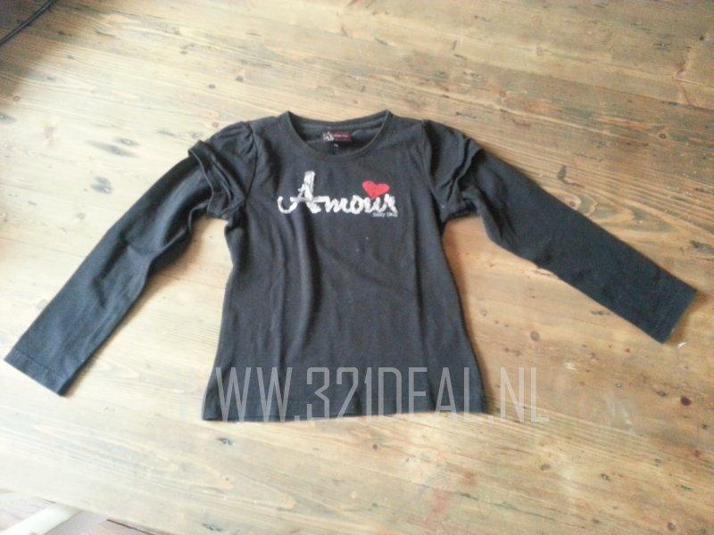 Salty Dog Kinderkleding.Salty Dog Zwart Shirtje Maatje 116 Kinderkleding Maat 116